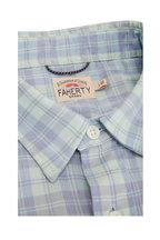 Faherty Brand - Movement Seaside Blue Plaid Shirt