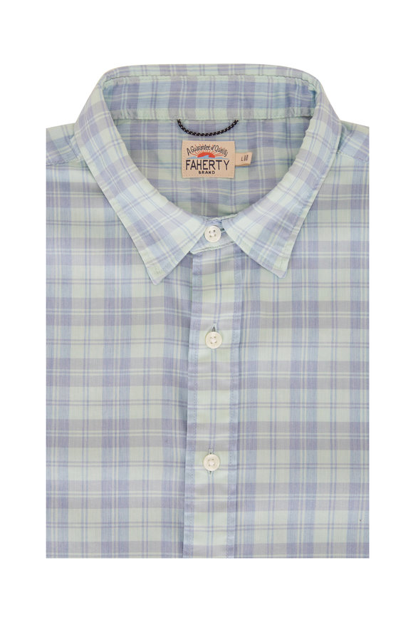 Faherty Brand Movement Seaside Blue Plaid Shirt