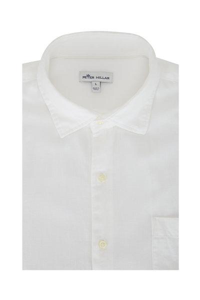 Peter Millar - Cannon Beach White Cotton Sport Shirt