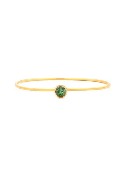 Syna - Baubles Yellow Gold Tsavorite Stack Bracelet