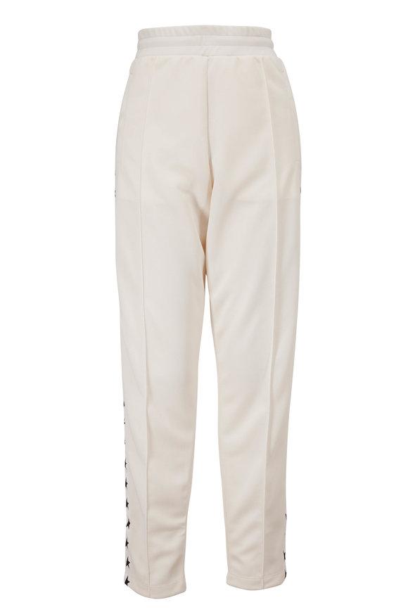 Golden Goose White Star Print Stripe Track Pant