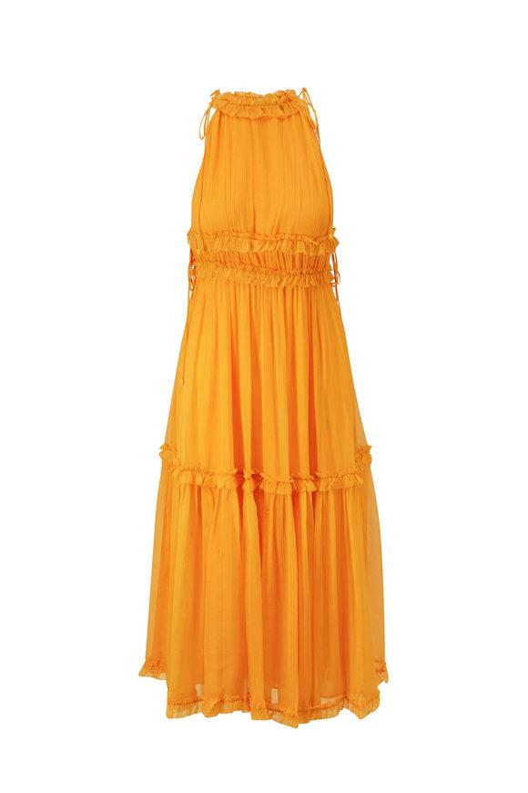 Zimmermann Mae Mango Tiered Frill Dress