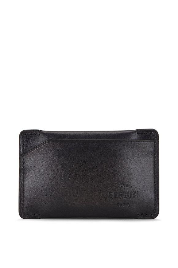 Berluti Easy Essence Nero Grigio Leather Card Case