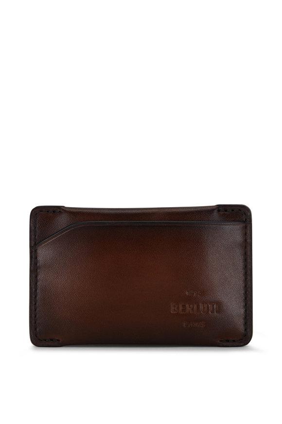 Berluti Easy Essence Mogano Leather Card Case
