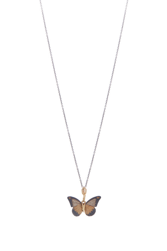 James Banks Silver & Gold Chocolate Albatross Necklace