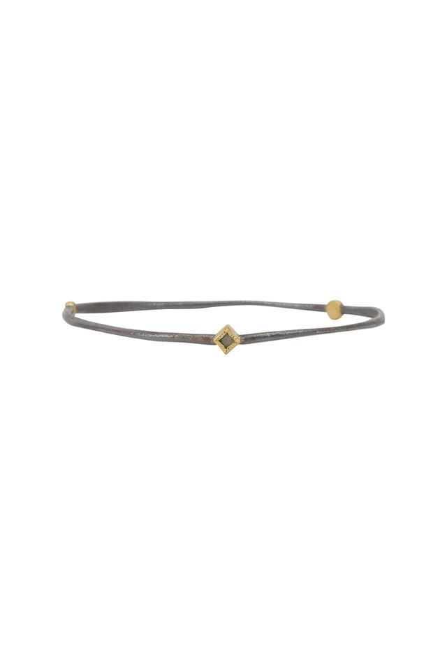 Gold & Silver Diamond Bangle Bracelet
