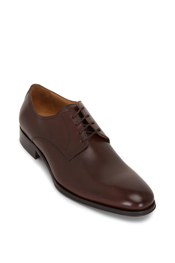 To Boot New York Declan Cacao Leather Lace-Up Dress Shoe