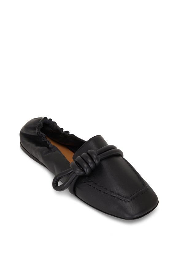Loewe Flamenco Black Leather Slipper