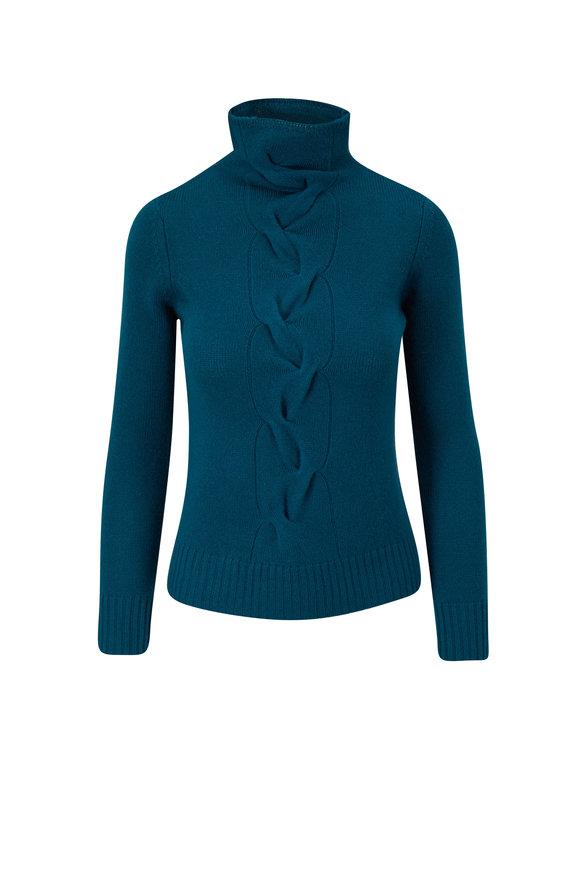 Kinross Juniper Cashmere Funnel Neck Sweater