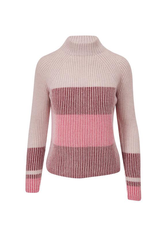 Kinross Berry Multi Stripe Sweater