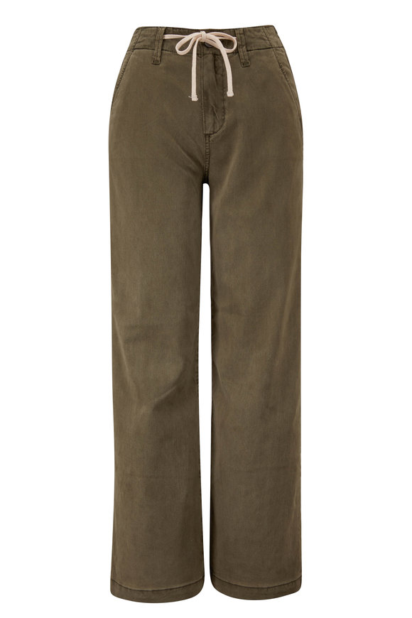PAIGE Carly Green Wide Leg Pant