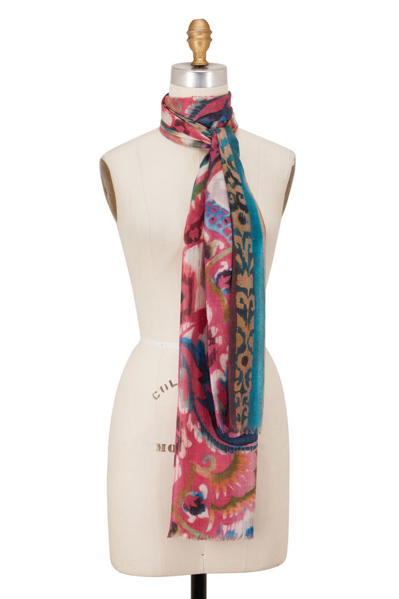Kinross Multicolor Tapestry Print Scarf