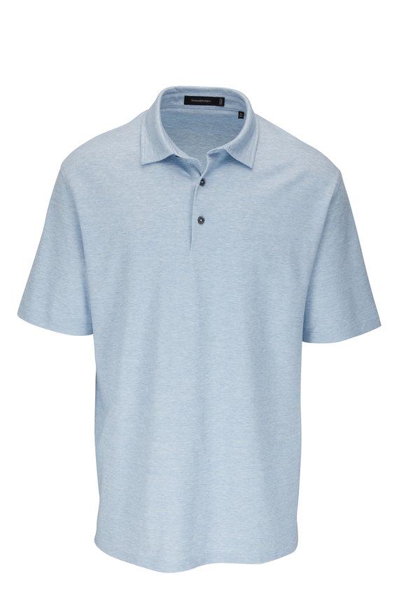 Ermenegildo Zegna Light Blue Short Sleeve Polo