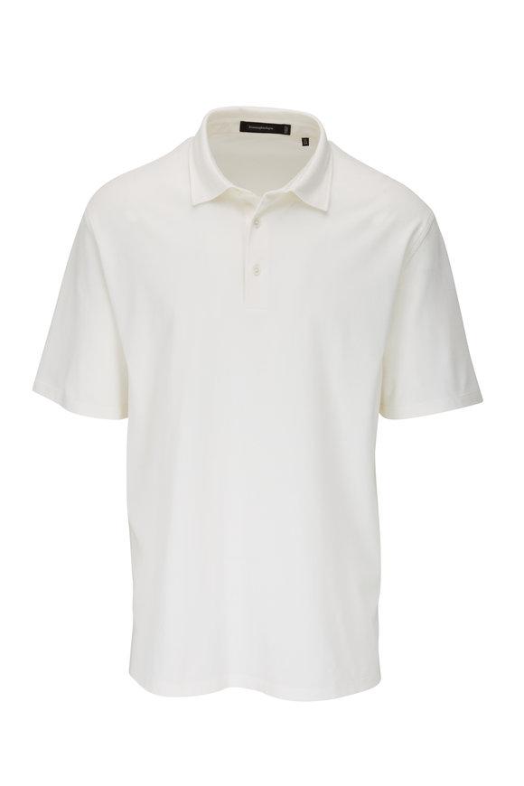 Ermenegildo Zegna White Short Sleeve Polo