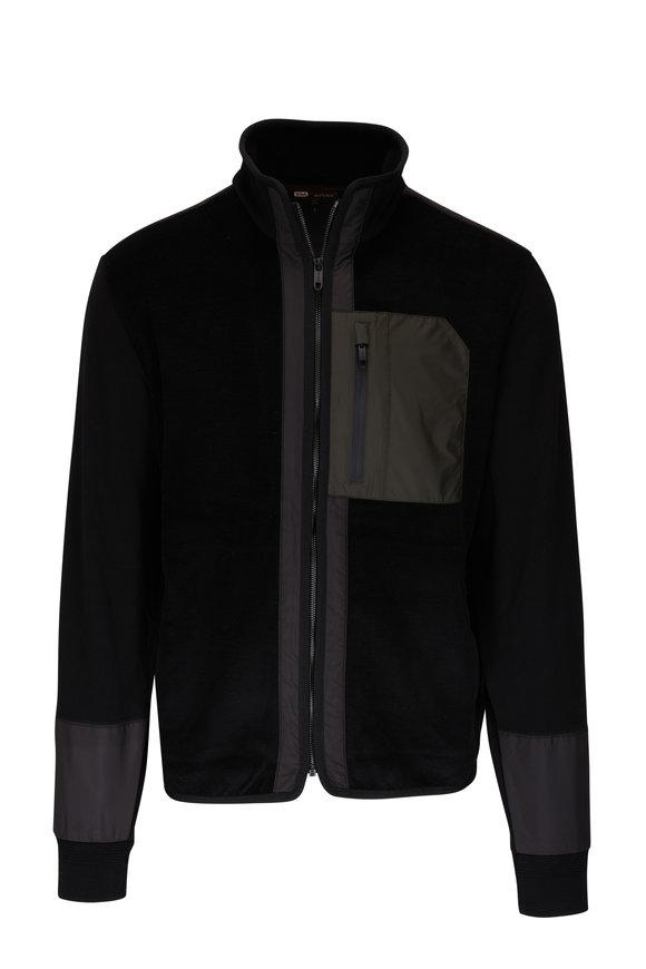 Z Zegna Techmerino Black Fleece Full-Zip Sweatershirt