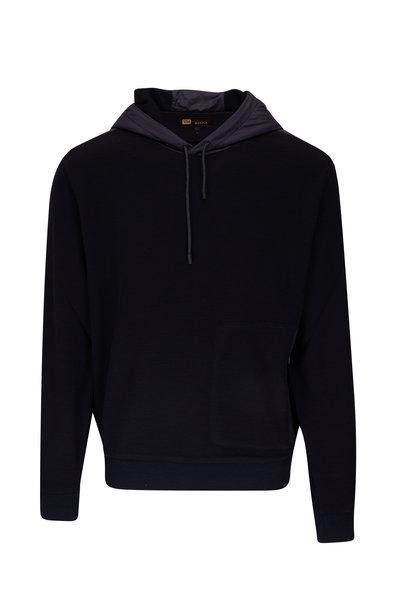 Z Zegna - Techmerino Navy Wool Hoodie