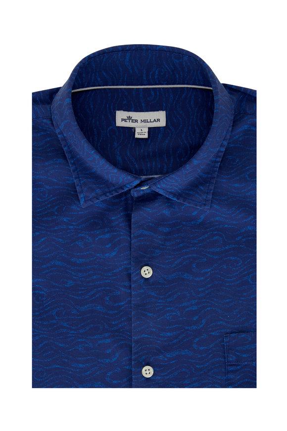 Peter Millar Shipstern Navy Sport Shirt