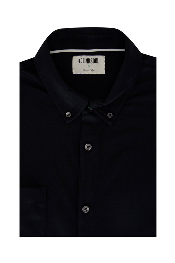 Linksoul Black Short Sleeve Button Down