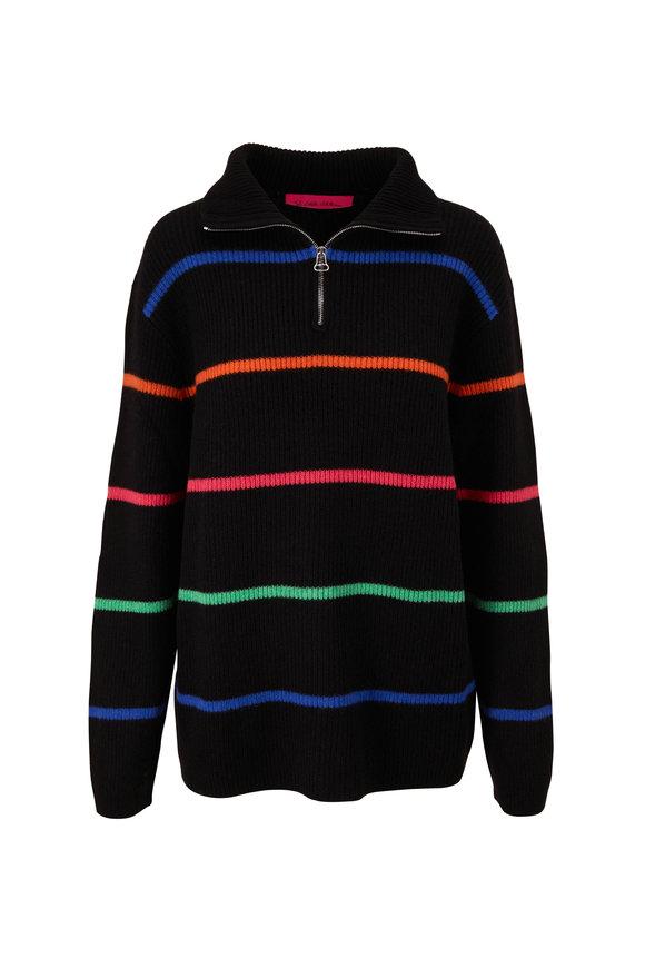 The Elder Statesman Mr Robin Multi Stripe Quarter-Zip Sweater