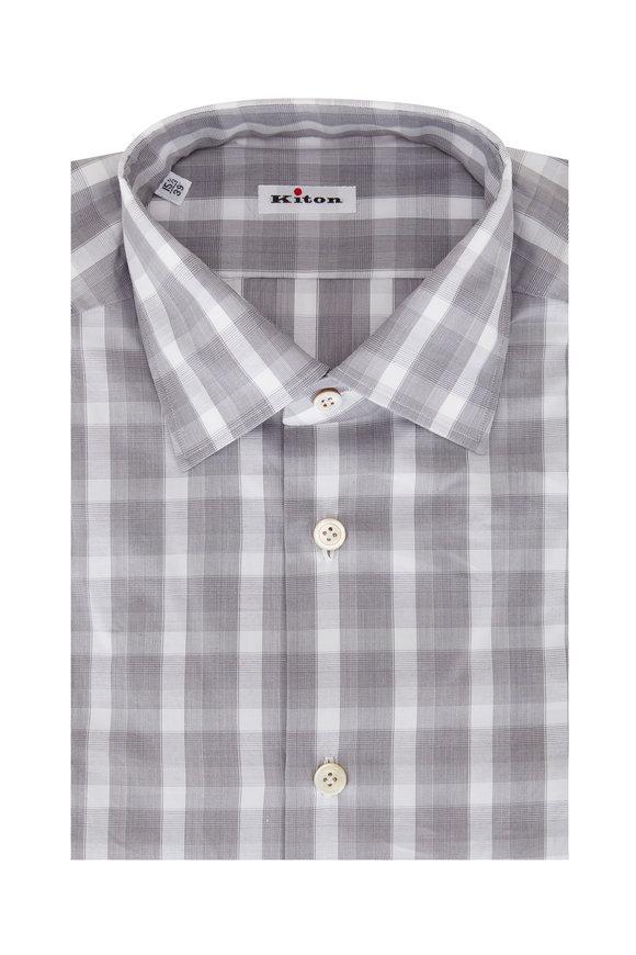 Kiton Grey Check Sport Shirt
