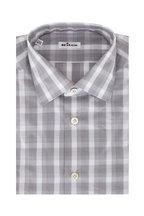 Kiton - Grey Check Sport Shirt