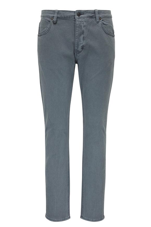NEUW Lou Slate Green Twill Straight Leg Jean