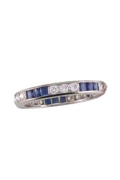 Oscar Heyman - Platinum Sapphire Diamond Ring