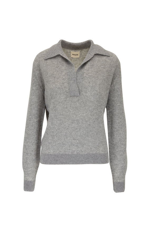 Khaite Jo Warm Gray Cashmere Sweater