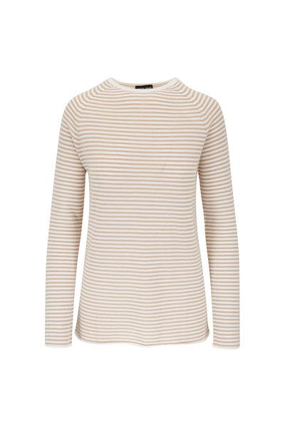 Giorgio Armani - Ivory Cashmere Stripe Sweater