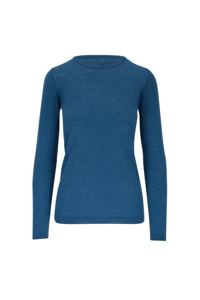 Kinross - Blue Spruce Worsted Cashmere Crewneck Sweater