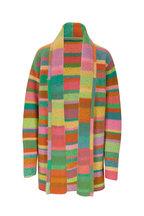 The Elder Statesman - Green & Yellow Multi Stripe Cardigan