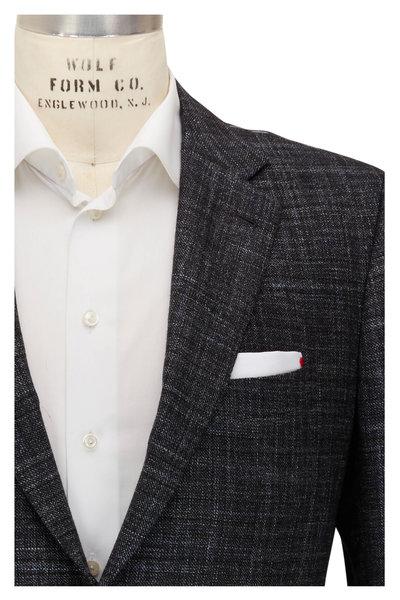 Kiton - Gray Faint Check Cashmere, Wool, & Silk Sportcoat
