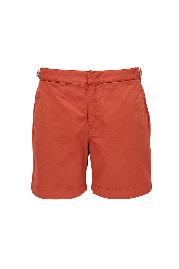 Orlebar Brown Bulldog Vintage Rose Twill Shorts