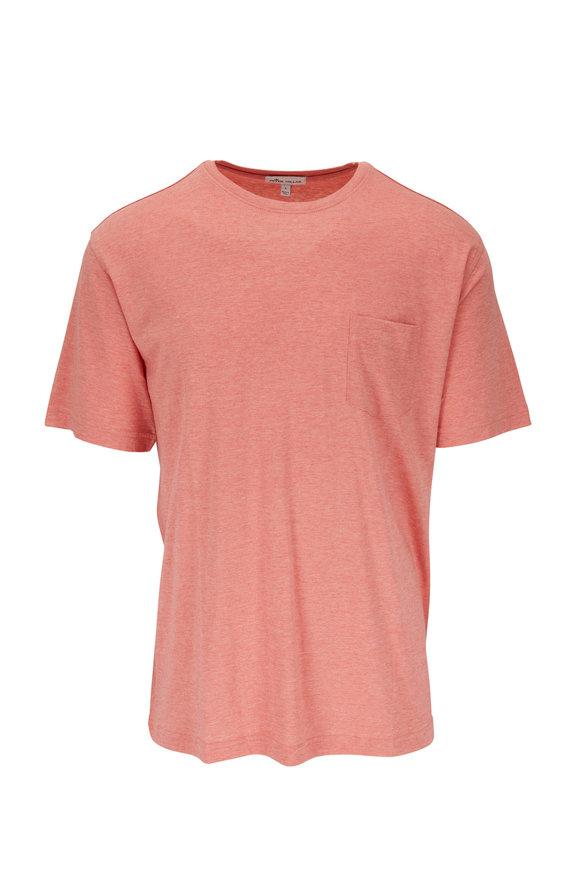 Peter Millar Orange Short Sleeve Pocket T-Shirt
