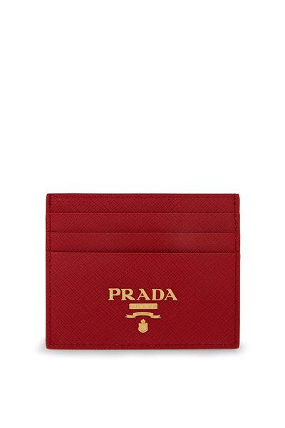 Prada - Red Saffiano Leather Card Holder