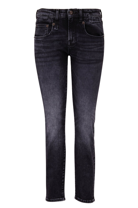 R13 Boy Skinny Morrison Black Five Pocket Jean