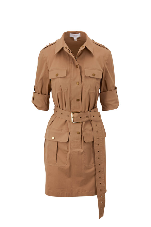 Michael Kors Collection Barley Belted Utility Shirtdress