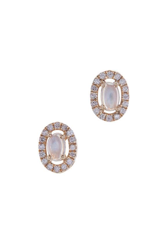 Loriann London Blue Topaz & Diamond Earrings