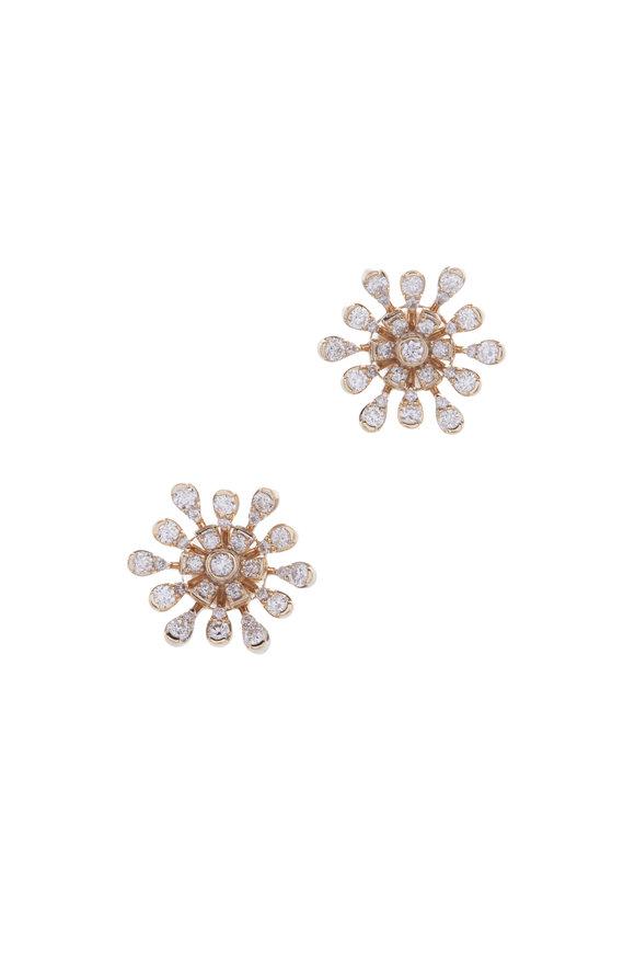 Loriann Pink Amethyst & White Sapphire Burst Earrings