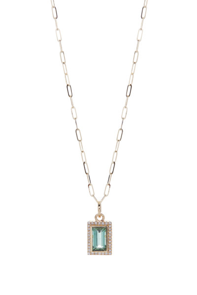 Loriann - Green Tourmaline Pendant Necklace