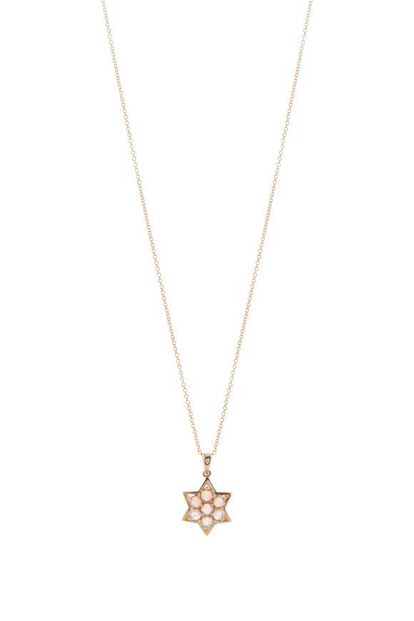 Loriann Moonstone Star Pendant Necklace