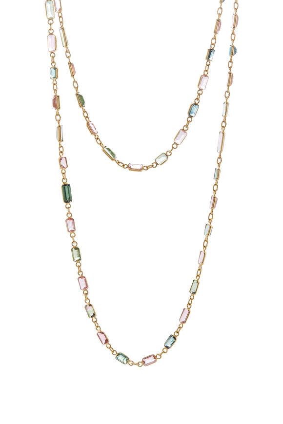 Loriann Yellow Gold Tourmaline Chain Necklace