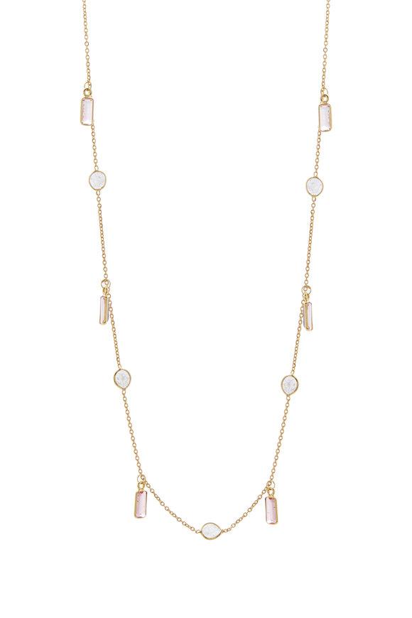 Loriann Pink Tourmaline & Diamond Chain Necklace