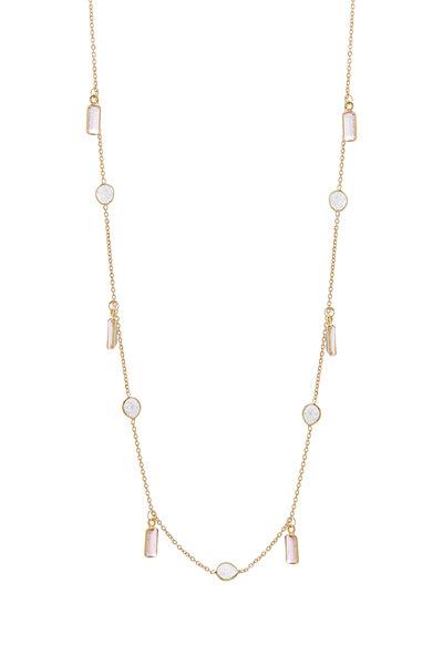 Loriann - Pink Tourmaline & Diamond Chain Necklace