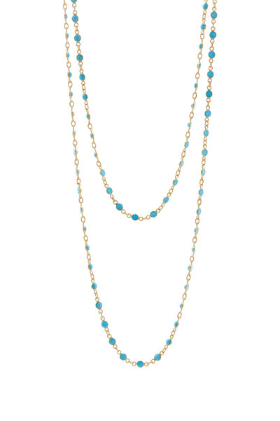 Loriann - Round Turquoise Chain Necklace
