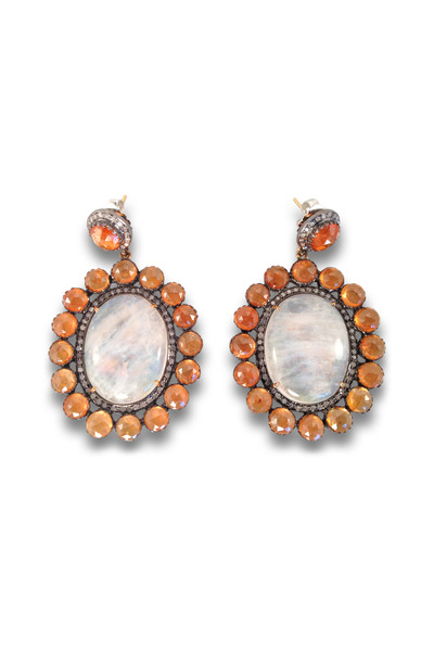 Loriann - Multi Stone Gold Earrings