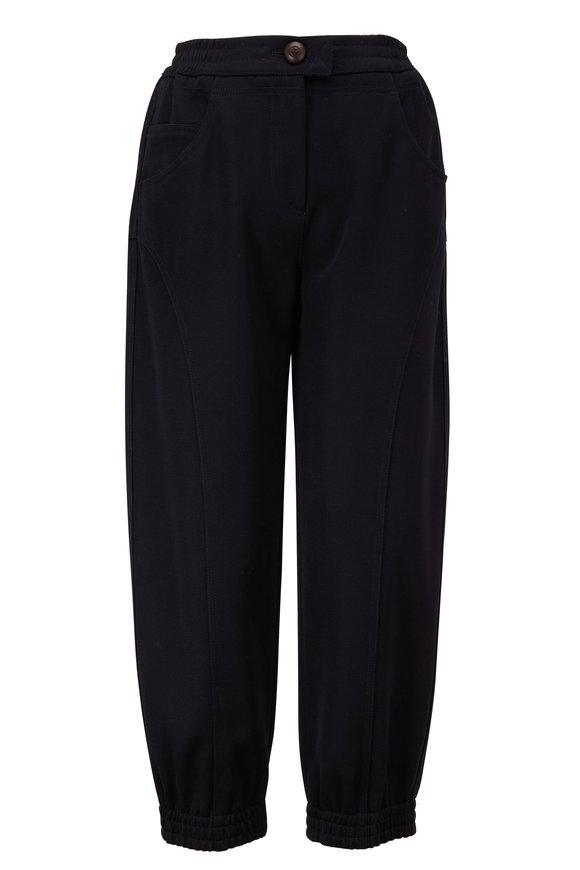 Giorgio Armani Navy Cropped Wool Pant