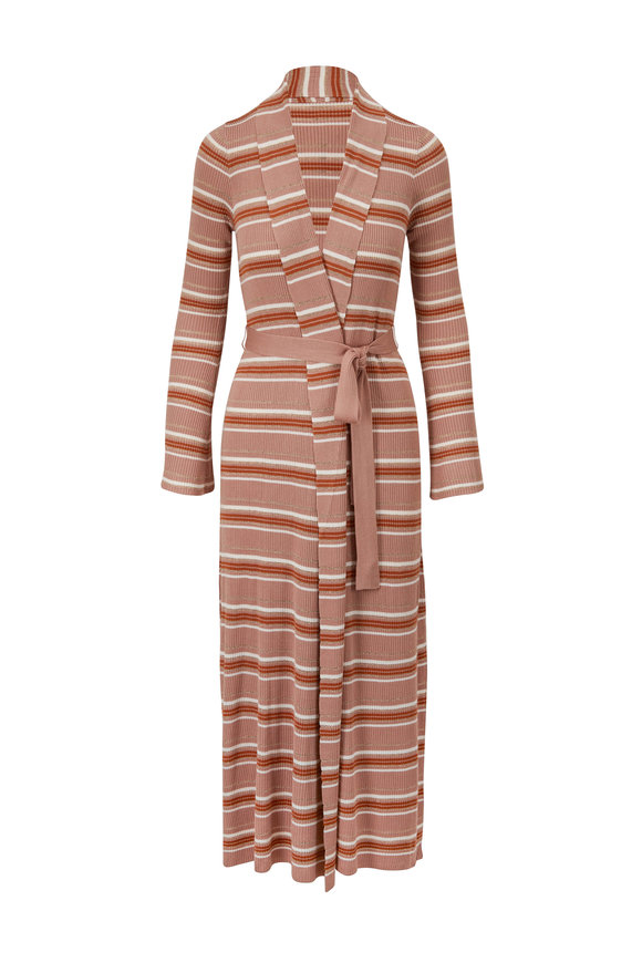 L'Agence Marija Multi-Stripe Belted Cardigan