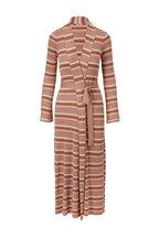 L'Agence - Marija Multi-Stripe Belted Cardigan