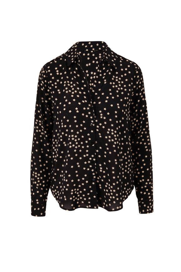 L'Agence Holly Black & White Star Blouse